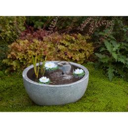 Dekorset damm rund grå komplett 55 cm