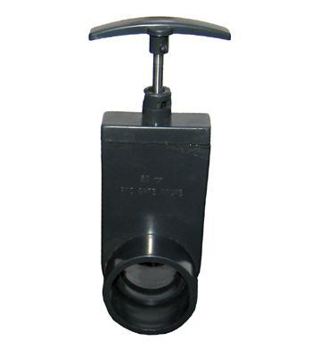 Knivventil 110 mm med skjuthandtag